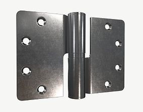3D door lift off stainless steel hinge with round corners