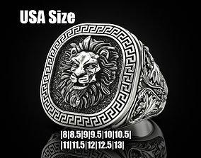 Lion ring Greek ornament 3D printable model