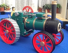 3D printable model Traction engine train internal 3