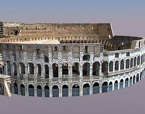 3D model game-ready Roman Coliseum
