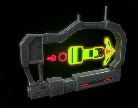 Low poly sci fi holographic billboard VR / AR ready 2