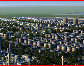 Refinery Port Harbour collection 1 3D