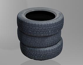 3D model tire pile