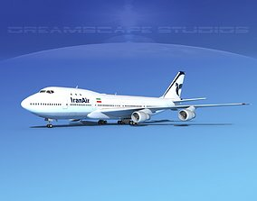 3D model Boeing 747-100 Iran Air