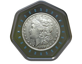 Digital Currency Coin - 600 BTC 3D money