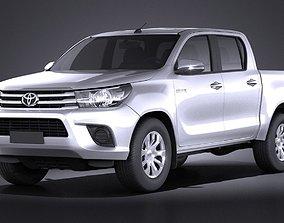 Toyota Hilux Double Cab 2016 base 3D model