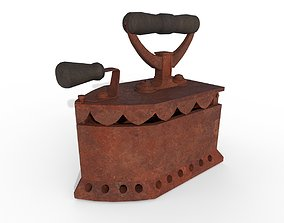 Old charcoal iron 3D asset