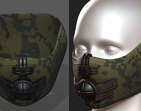 game-ready Helmet scifi military combat 3d model 2