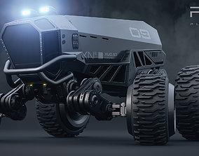 3D Fury - planetary roamer - sci-fi cyberpunk truck