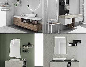 Bathroom furniture collection 4 3D model