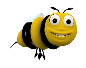 Bee cartoon character 3D