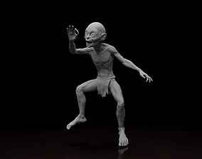 Gollum Smeagol Lord of the rings 3d model stl file