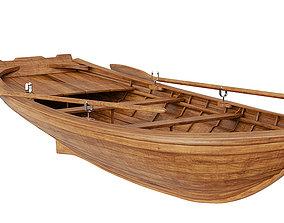 Wooden Boat BLENDER 3D Model Cycles