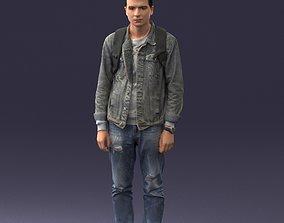 Man with bag 0822 3D