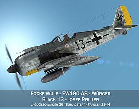 Focke Wulf - FW190 A8 - Black 13 3D model