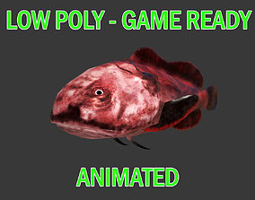 Low poly Blob Fish Animated - Game Ready 3D asset