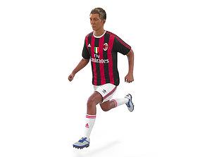 3D Soccer Player Milan Rigged