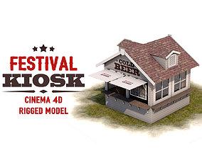 Festival Kiosk 3D