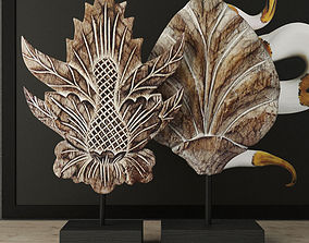 3D Albesia Wood Carved Decoration 2