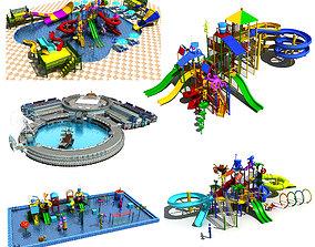 Collection of Amusement Park - Water Park 3D
