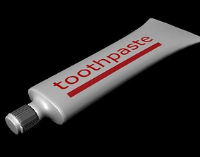 Toothpaste 3D asset game-ready