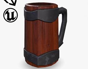Fantasy Wooden Mug 3D model