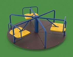 3D model PBR Playground carousel
