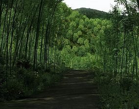 3D model bamboo forest