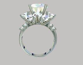 Ring diamond for girls 3D printable model