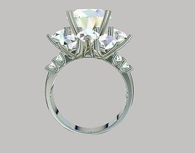 Ring diamond for girls 3D printable model