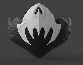 Freefire king skull mask for face from 3D print model 1