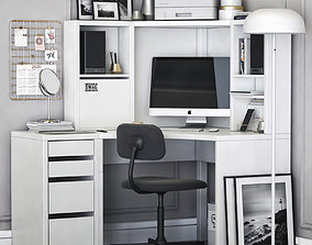 3D Ikea MICKE corner workplace