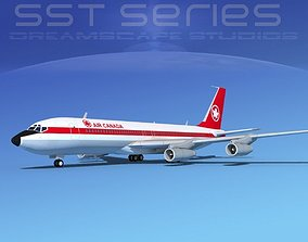 Boeing 707-320 SS Air Canada 3D model
