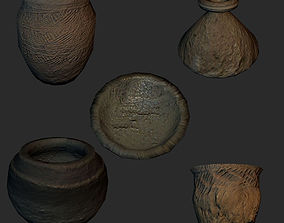 3D asset Set of 5 antique Chinese vases