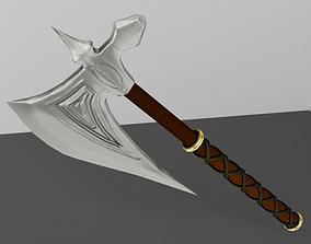 One-Handed Battle Axe 3D asset