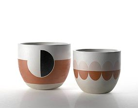3D The Modernist Pots round