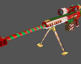 Barrett Christmas Lowpoly Hand painted 3D model