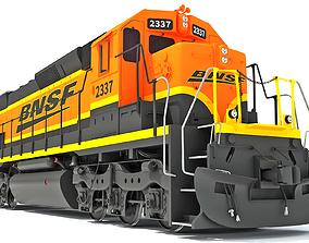 Locomotive Train BNSF 3D