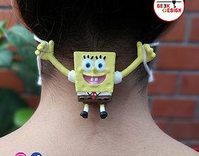 Sponge Bobs 3d Ear Saver- Salvaorejas 3d Bob Esponja