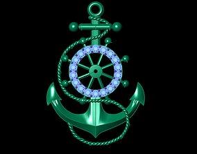 Anchor Pendant 3D