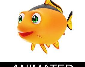 Common Carp Fish Cartoon Style Animated 3D asset
