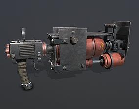 gun Flamethrower 3D asset realtime