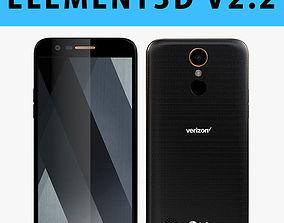 E3D - LG K20 V Black 3D model 3D