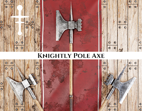 Medieval Knightly Pole Axe 3D model