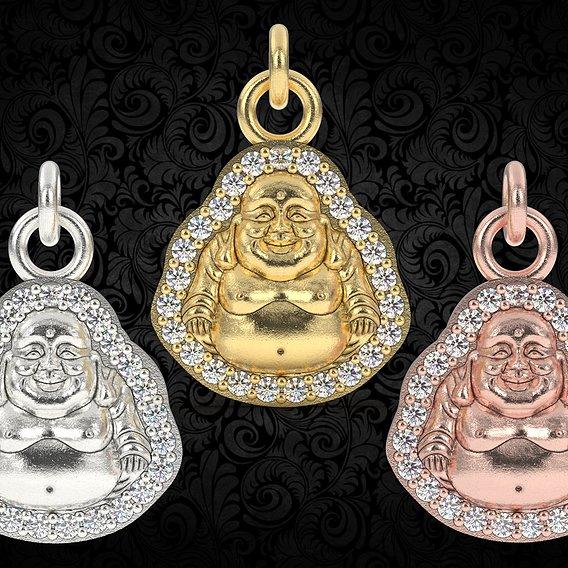Laughing buddha charm pendant