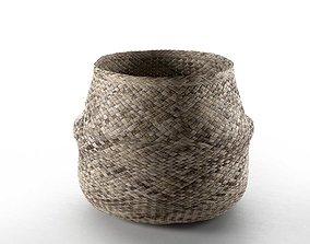 3D model vintage Wicker Basket