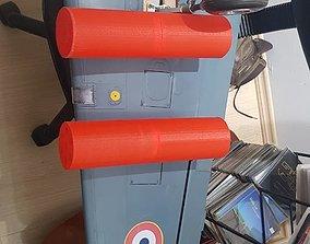 Rocket launcher Pod with Wing Pylon 3D model
