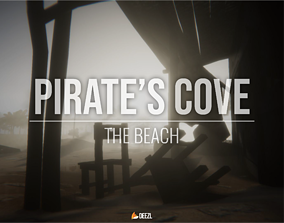 3D asset Pirate s Cove - The Beach - Blender and