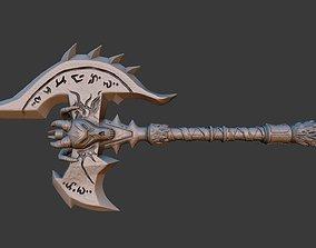 Shadowmourne Axe 3D asset