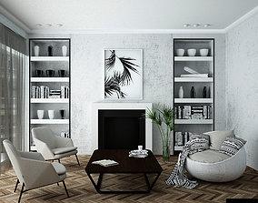 3D model livingroom home